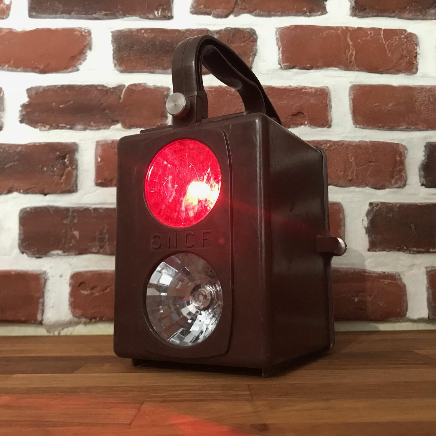Lampe sncf lanterne de visiteur sncf pour collection ou - Lampe pour tableau a pile ...