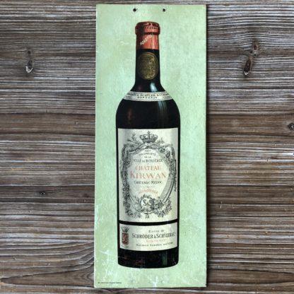 Affiche publicitaire : vin Château Kirwan