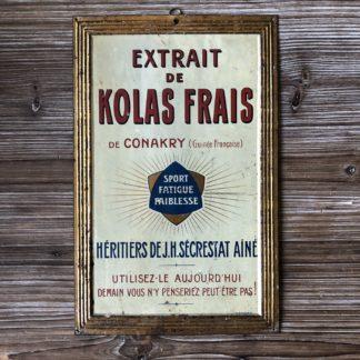 Plaque publicitaire : kolas frais de Conakry