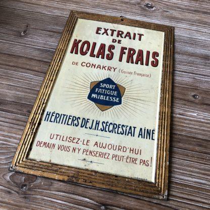 Kolas frais de Konakry, affiche avec dorure