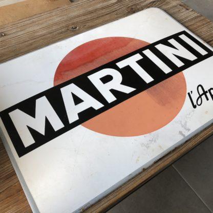 Plaque émaillée Martini, quelques tâches et rayures