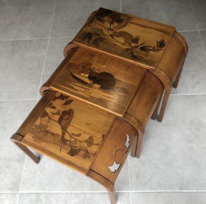 Tables gigognes Emile Gallé