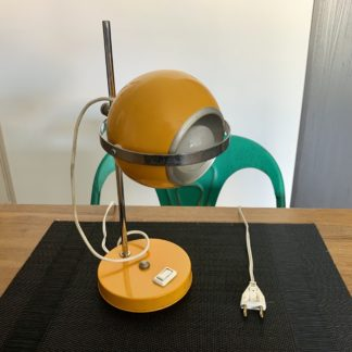 Lampe monteuse eyeball jaune