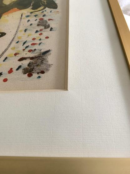 Détail de l'encadrement de la lithographie