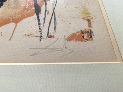 Signature Salavador Dalí sur l'épreuve